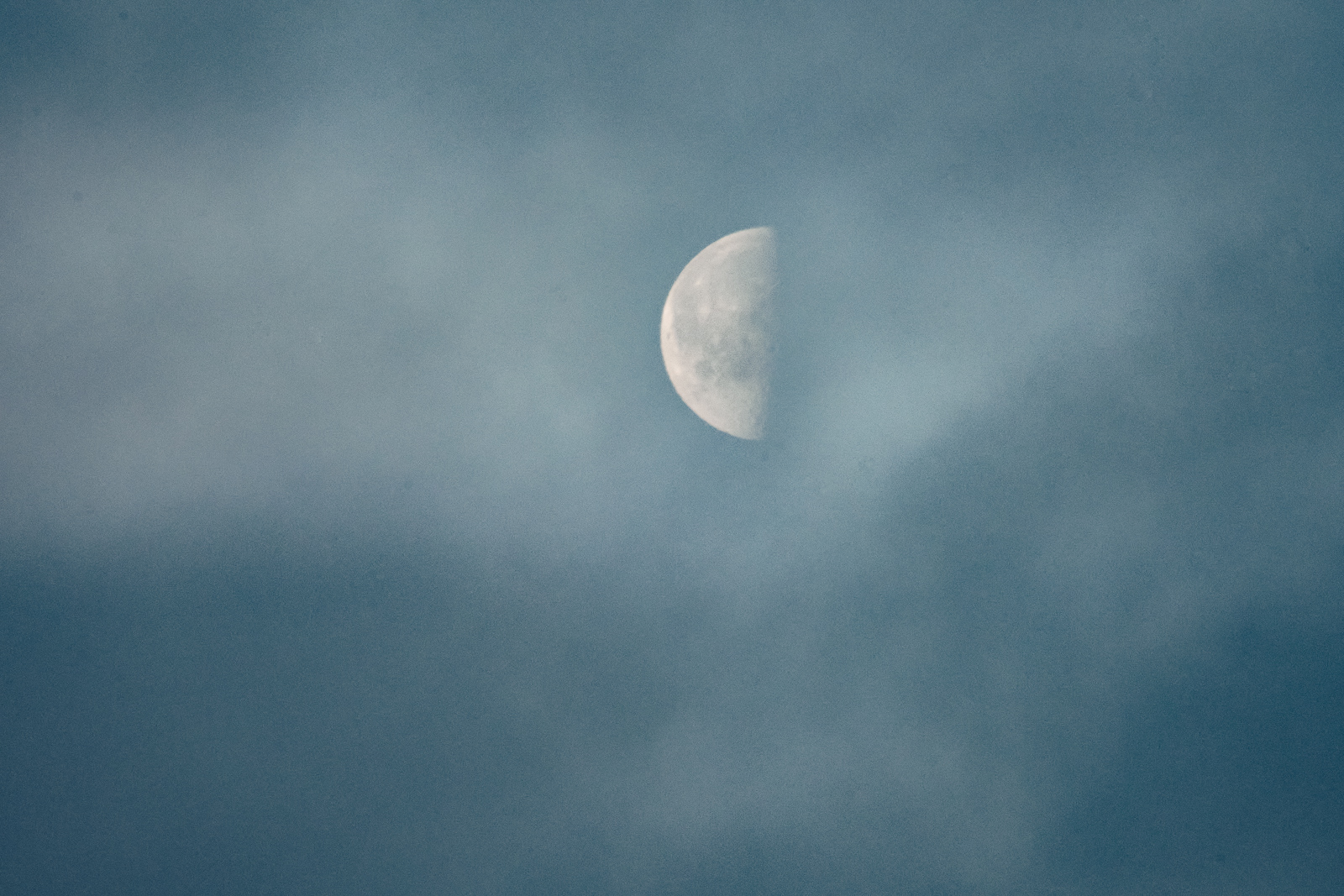 Moon in a clouded sky